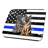 Thin Blue Line K9 Unit German Shepherd Live Forever All Over Mouse Pad Multi Standard One Size