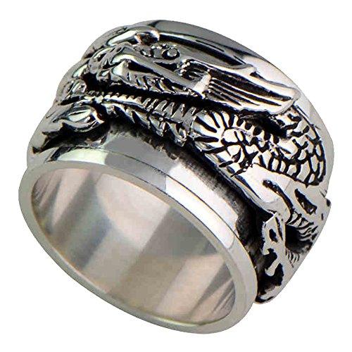 925 Sterling Silver Spinner Ring - 5