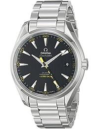 Men's 23110422101002 Seamaster150 Analog Display Swiss Automatic Silver Watch