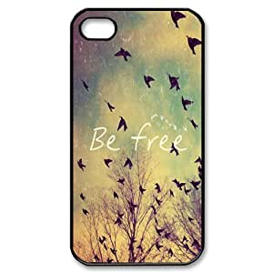 iPhone 4 4S Case,Birds Be Free Hign Definition Wonderful Design Cover With Hign Quality Plastic Protective Hard Case
