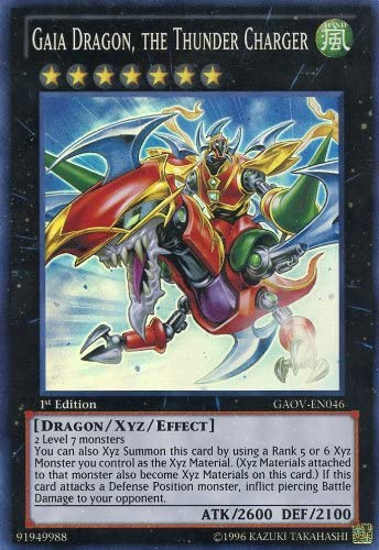Amazon Com Yu Gi Oh Gaia Dragon The Thunder Charger Gaov En046 Galactic Overlord 1st Edition Super Rare Toys Games