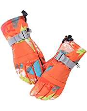 Adults Teen Kids Ski Gloves Thermal Insulated Windproof Waterproof For Extreme Cold Weather