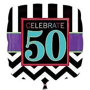 NANAS PARTY Chevron Edad 50 - Happy 50th cumpleaños Fiesta ...