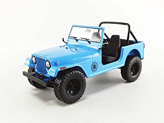 Greenlight Gl19064 1977 Jeep Cj 7 Diecast Auto Modell Von Lost Dharma Project Original Im Maßstab 1 18 Original Blau 21 Cm Spielzeug