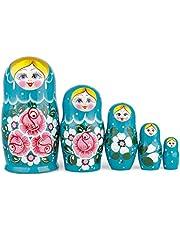 Russische nestpoppen, traditionele Matryoshka | Babushka houten poppen, met de hand gemaakt in Rusland