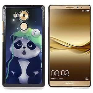 "Qstar Arte & diseño plástico duro Fundas Cover Cubre Hard Case Cover para HUAWEI Ascend MATE 8 (Cute Panda"")"