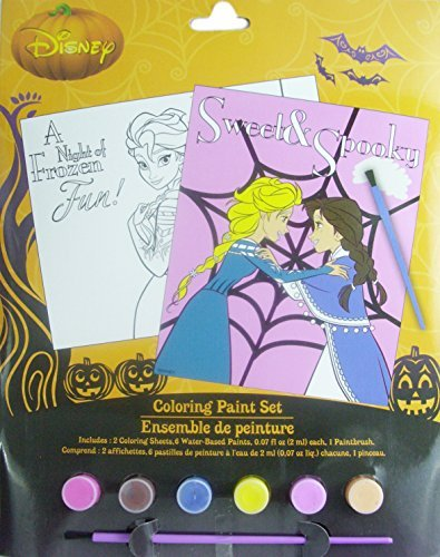 Disney Frozen Sweet and Spooky Halloween Coloring Paint -