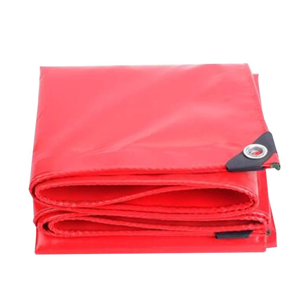 YX-Planen Mehrzweck-Planenblatt Hochwertige PVC-Abdeckung Reversible Rot - 100% wasserdicht und UV-geschützt - Dicke 0,45 mm, 520 g m²