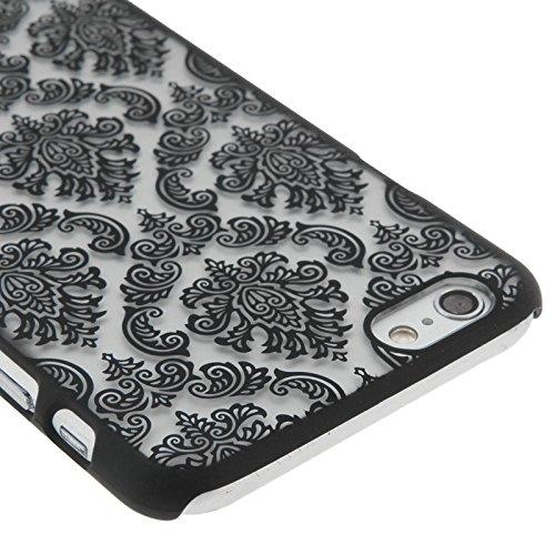 Phone Taschen & Schalen Retro Palace Embossed Blumen Pattern Schutzhülle für iPhone 6 Plus & 6s Plus ( Color : Black )