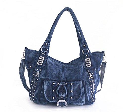 capacité Totes Bleu Denim Sacs grande sac bandoulière bandoulière Jeans main Femme Botia sac sac occasionnel à à 71aqxzqw
