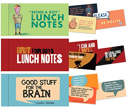 Lunch Notes Set for Boys from Papersalt - 60 Inspirational Lunchbox Notes