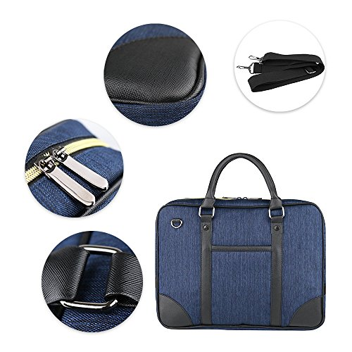 Jia HU 1Oxford Tuch Laptop Aktentasche Messenger Tasche Book Tablet Organizer für Reisen Business blau hellblau