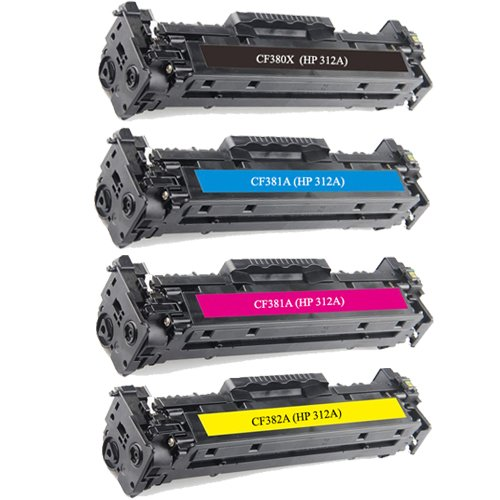Do it Wiser CF380X 312A Compatible Toner Set for HP Color Laserjet Pro MFP M476 M476dn M476dw M476nw - CF381A CF382A CF383A High Yield Photo #3