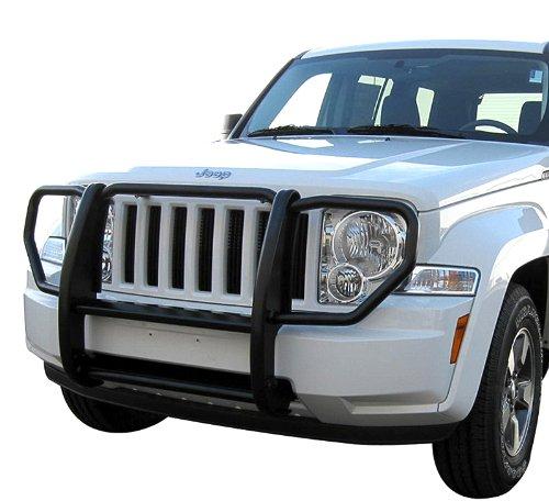 TYGER Custom Fit 2008-2011 Jeep Liberty Grille Saver Bumper Brush Guard Black