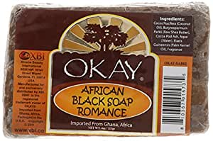 Okay Romance Soap, Black, 4 Ounce