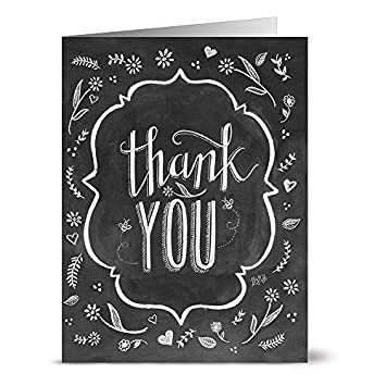 amazon com 24 chalkboard thank you note cards for 9 99 pretty