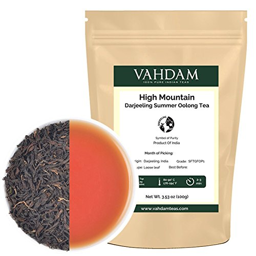 Image of High Mountain Oolong Tea Leaves from Himalayas (50 Cups), 100% Natural Weight Loss, Detox Tea & Slimming Tea, Limited Edition Tea Harvest, 3.53oz