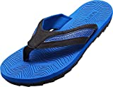 NORTY Men's Flip Flop Thong Sandal, Royal, Black 40350-9D(M) US