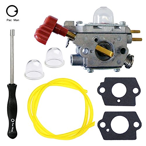 Atoparts Carburetor with Screwdriver Tool for Craftsman Troybilt TB2044XP MS2550 MS2560 TB2040XP Yard Machine Trimmer MTD 753-06288 Cadet Zama C1U-P27 Carb by Atoparts
