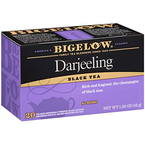 Bigelow Darjeeling Blend Tea 20-Count Boxes (Pack of 6), 120 Tea Bags Total.  Caffeinated Individual Black Tea Bags, for Hot Tea or Iced Tea, Drink Plain or Sweetened with - Tea Afternoon Darjeeling