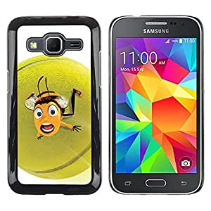 Shell-Star Arte & diseño plástico duro Fundas Cover Cubre Hard Case Cover para Samsung Galaxy Core Prime / SM-G360 ( Cute Funny Tennis Ball Bee )