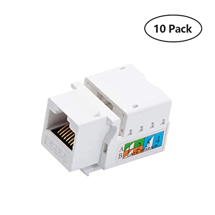 amazon com generic keystone jack rj45 ethernet module cat6 networkimage unavailable image not available for color generic keystone jack rj45 ethernet module cat6 network coupler punch down adapter compatible cat 6