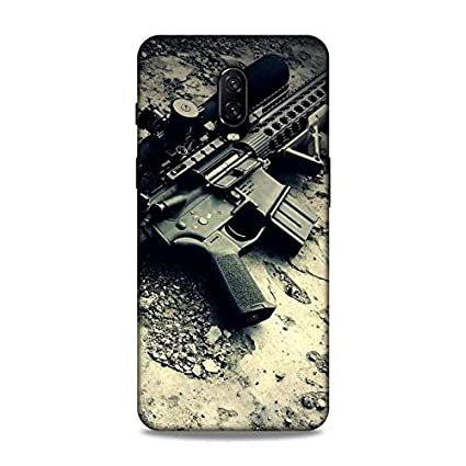 Luxocase OnePlus 6T Guns Riffle Game Back Case Cover: Amazon