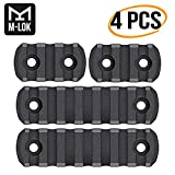 Braudel M-LOK Rail Section, 3-Slots and 7-Slot Lightweight Picatinny Rail Handguard Mount System, AR 15 Accessories, Industries Polymer 4 Pack