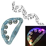 Aoneky Childrens Musical 4 LED Light Rattle, Hot Flashing Kids Toys for Party or Christmas Gifts