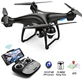 FPV Drone with 1080p HD Camera Live Video and GPS Return Home Function S70W RC Drone for Beginners Kids Adults with Follow Me Mode, Altitude Hold, Intelligent Battery Long Control Range