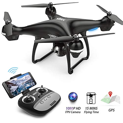 FPV Drone with 1080p HD Camera Live Video and GPS Return Home Function S70W RC Drone for Beginners...