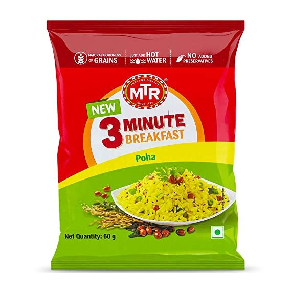 MTR 3 Mins Breakfast Poha Pouch 60g