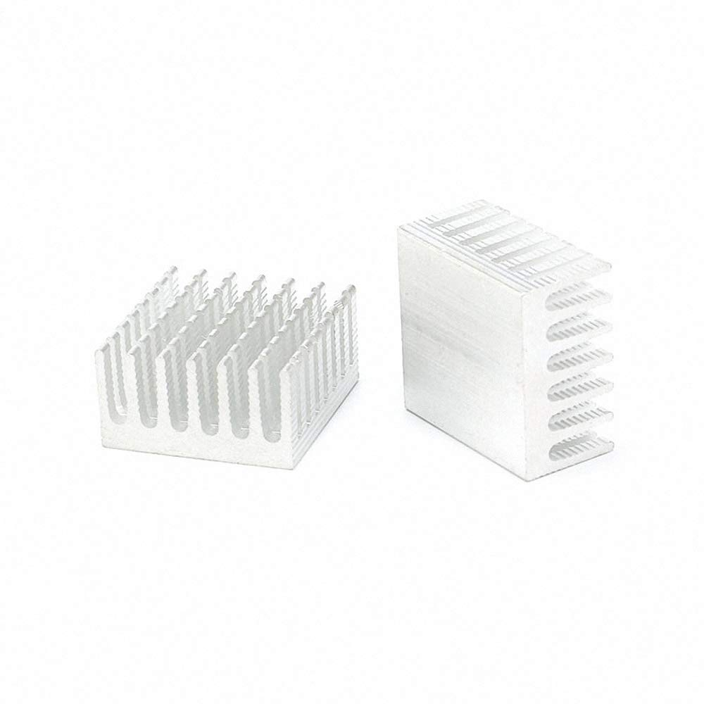 1 pc 282815mm Cooler Heatsink Cooling Fin Aluminum Heat Sink Radiator for Graphic Silver 28X28X15mm