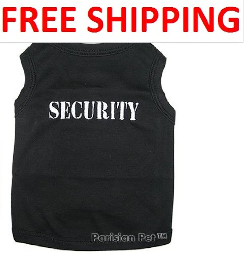 """"""" SECURITY """" - Pet Dog Shirt Embroidered - All Sizes (Medium)"""