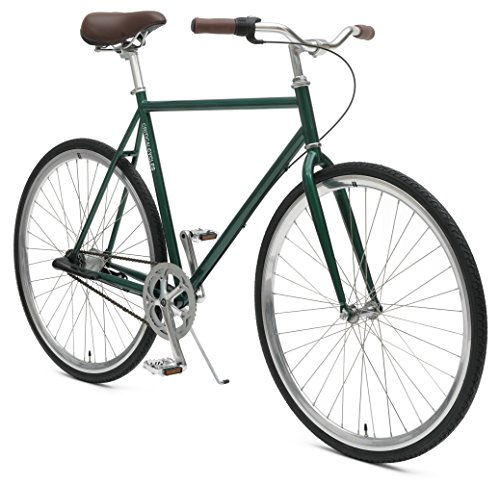 Critical Cycles Diamond 3-Speed City Coaster Commuter Bicycle, British Racing Green, 53cm/Medium