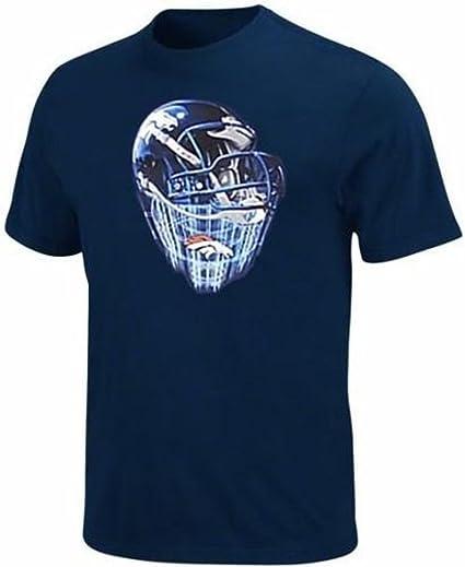 a9623422 Amazon.com : Denver Broncos NFL Mens Helmet Tee Shirt Navy Big Sizes ...