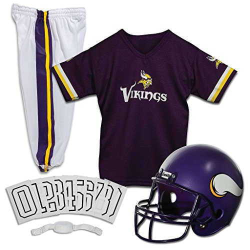 Franklin Sports NFL Vikings Deluxe Uniform Set - Small