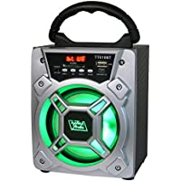6 200 Watts Portable Multimedia Speaker & Changing Colored Light - Silver
