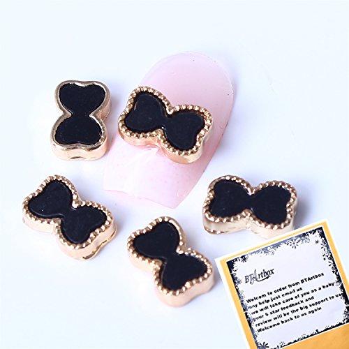 Leegoal 10pcs Special Charming 3D Nail Art Designs Nail Art Bow Tie Alloy Rhinestones DIY Decoration