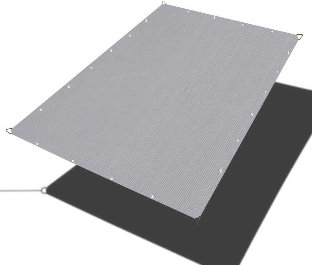 Alion Home Sun Shade Sail - Straight Edge Shade Sail - Shade Cloth for Patio, Pergola, Playground Shade Sails, Backyard Sails, Sail Awning, Deck Shade Sail (4 x 8 FT, Grey)