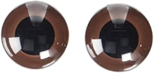 Darice Animal Eyes With Plastic Washer Brown 24Mm 2Pc