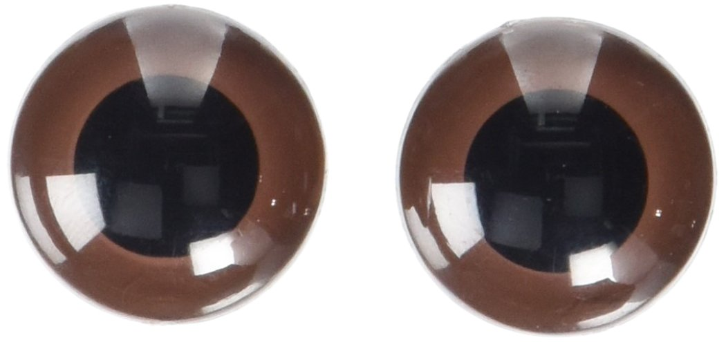 Darice 51124-07 Animal Eyes with Plastic Washer Brown 24Mm 2Pc