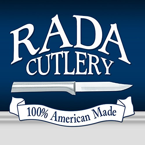 Rada Cutlery Cook's Knife – Stainless Steel Blade With Brushed Aluminum Handle Made in USA, 10-7/8 Inches