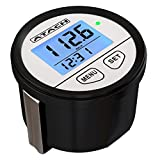 ATACH 60mm Digital GPS Speedometer with backlight display and high speed recall for car, motorcycle, marine and UTV (White / Black Bezel)