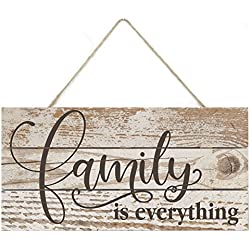 MRC Wood Products Family is Everything Rustic Wooden Plank Sign 5x10