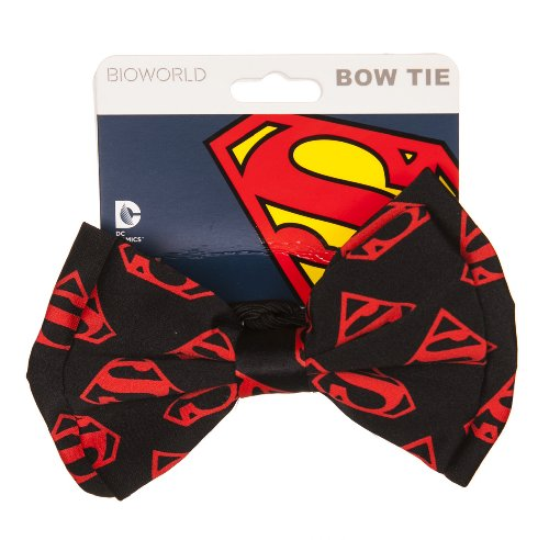 Classic Red Logo DC Comics Superman Bow tie