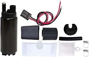 GSS342 255 LPH High Flow Electric Intank Fuel Pump with Installation Kit (Black)