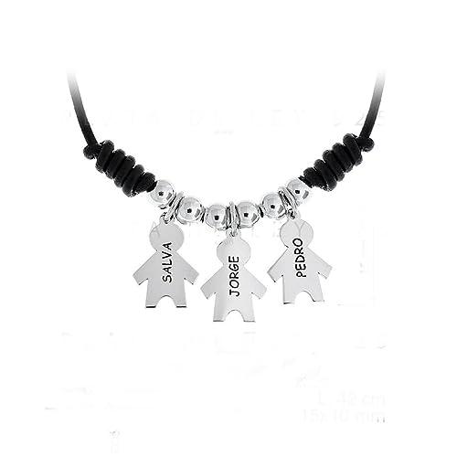 taglia 40 49882 d99e2 Collana/collana con 3 bambini in argento Sterling e de 1 a ...