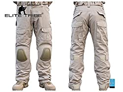 Paintball Equipment Men Military Airsoft Hunting BDU Pants Combat Gen2 Tactical Pants with Knee Pads Tan