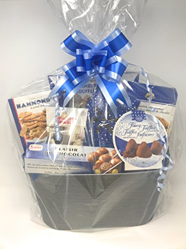 12 Large Cellophane Gift Basket Bags and 12 Bows - 24 X 30 Inches - Includes 12 Large Pull Bows